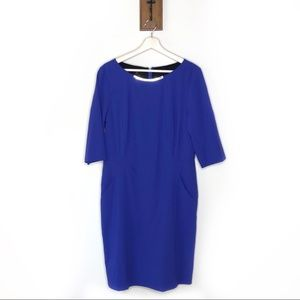 Lafayette 148 New York blue dress with pockets
